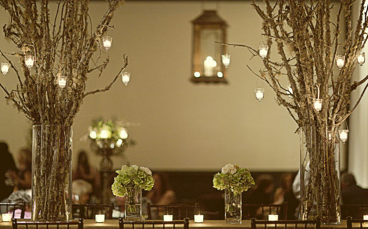 branch centerpiece - Elizabeth Ann Designs - Weddings - Event