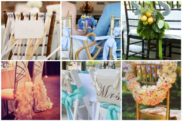 ideas on making their wedding chairs fun unique and really stand out