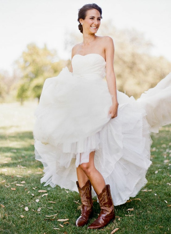 Cowboy boots simple solutions for Simple southern wedding dresses