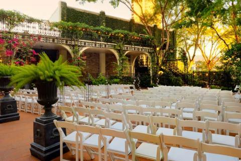 Houston Wedding Venue Highlight Courtyard On St James