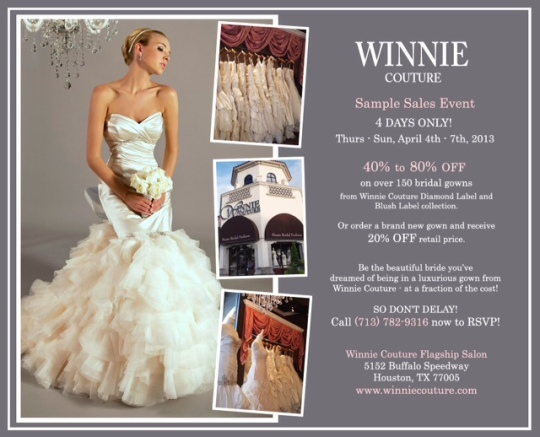 SAMPLE SALE - Winnie Couture
