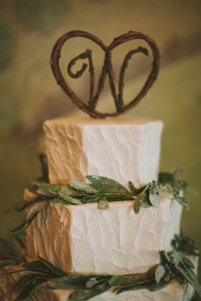 "Courtney + Luke's Wooden ""W"" Topper"