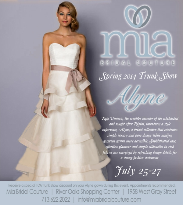 Mia Bridal Couture Alyne Trunk Show