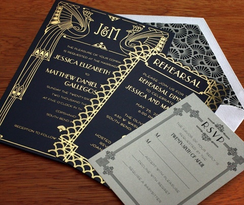 Art Deco Inspired Invitations