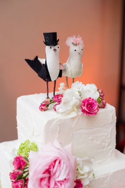 Kimberly + Chris' Love Bird Cake Topper