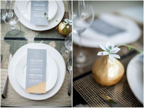 Gold Minimalist/Modern Table Decor