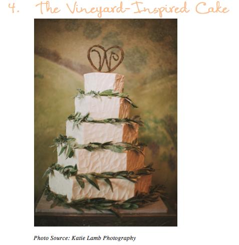 Vineyard Inspired Cake