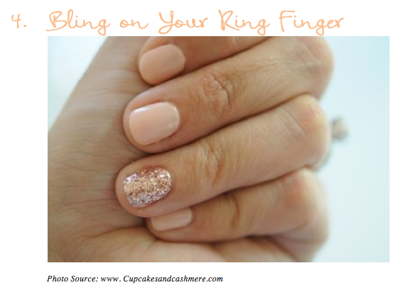 Bling on Your Ring Finger Nails