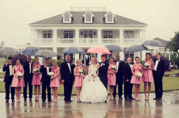 Wedding Party in the Rain