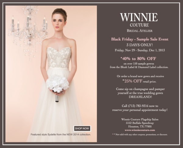 Winnie Couture Sample Sale