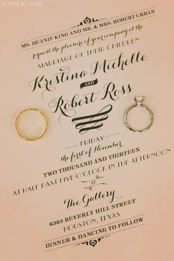 Kristi & Ross invition set``